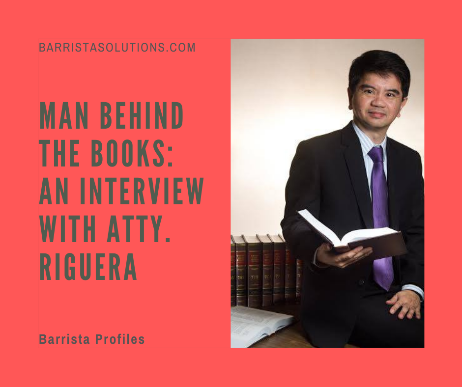 Atty. Riguera shares what inspired him to pursue Law and teaching.
