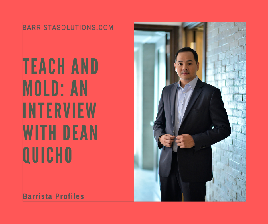 Dean Quicho shares his thoughts on the legal instruction and profession during the pandemic and his advice to aspiring lawyers.