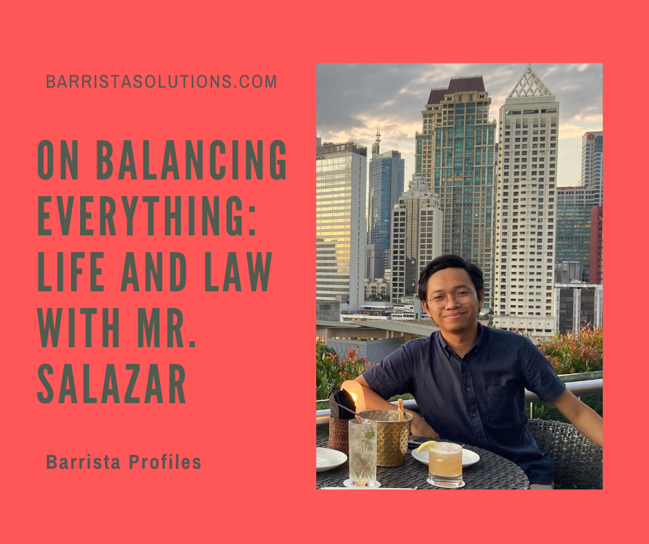 Mr. Robert Jhon Salazar- the Student Council President of FEU Law School talks about how he balances student and work life.