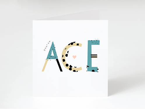 ACE BLUE - greeting card