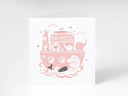NOAH PINK - greeting card