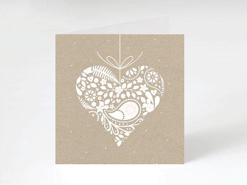 HANGING HEART - greeting card