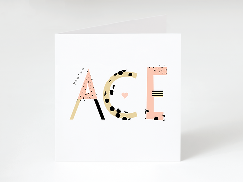 ACE PINK - greeting card