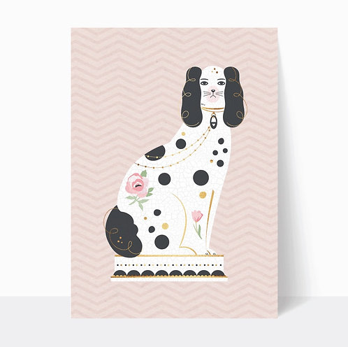 PAIR OF FIRESIDE DOGS (PINK) - digital download