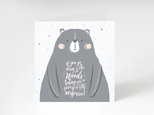 WOODS - greeting card