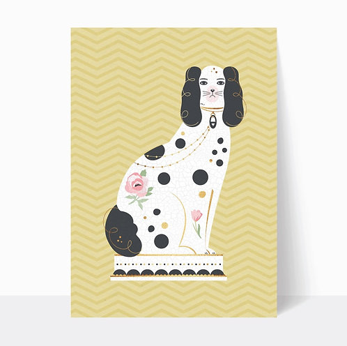PAIR OF FIRESIDE DOGS (YELLOW) - digital download