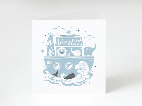 NOAH BLUE - greeting card
