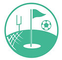 Icon of a golf pin soccer ball and football uprights