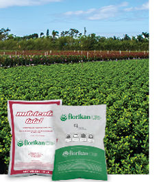 Nutricote and Gal-XeONE Controlled Release Fertilizer in front of outdoor nursery plants