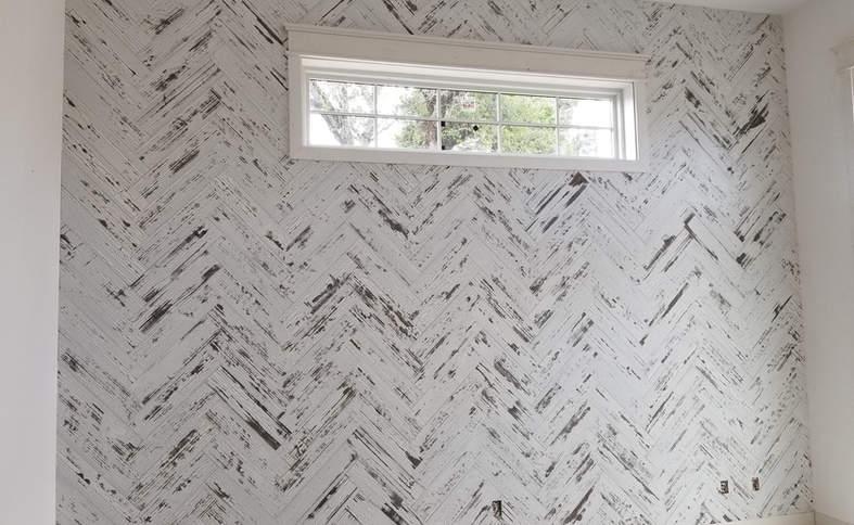 Herringbone wall covering
