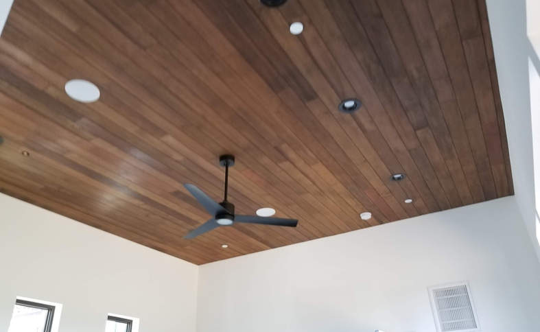 Ceiling wood covering
