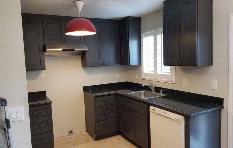 Pre-fab cabinets and coutertops