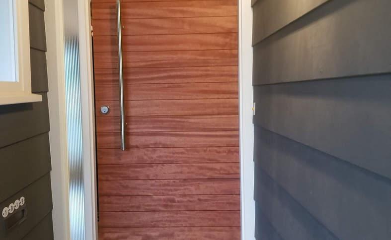 Custom door installation