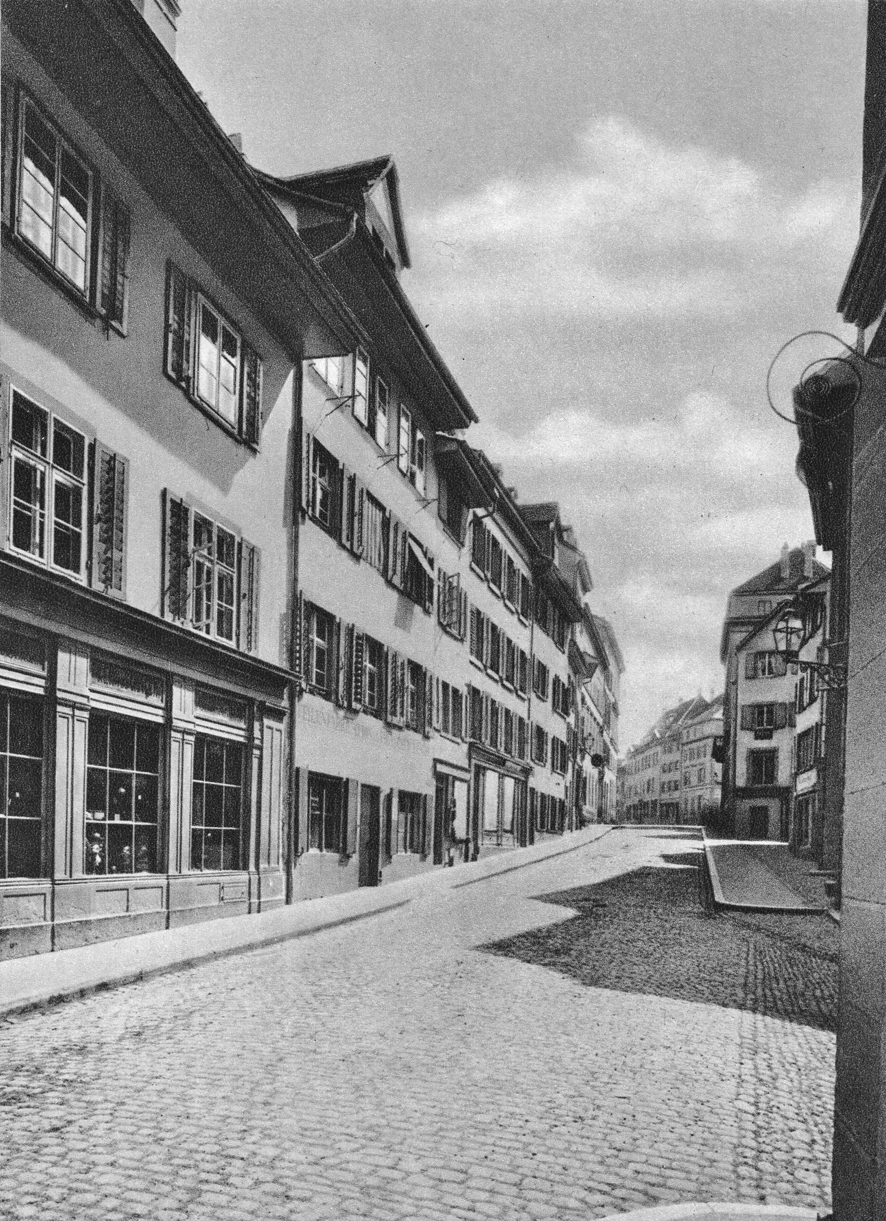 Die Obere Freiestrasse Richtung Aeschenvorstadt vor 1870