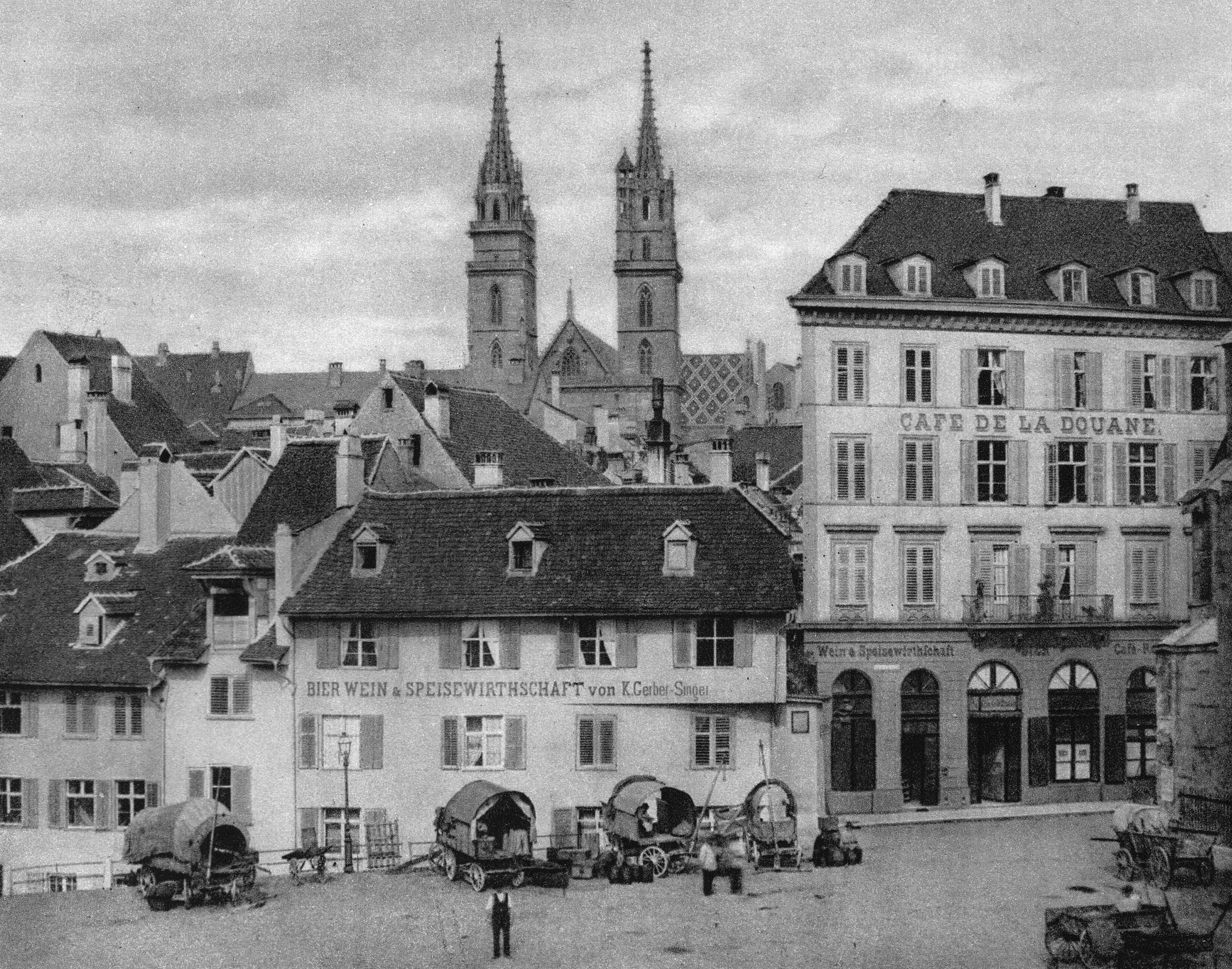 Der Barfüsserplatz um 1890