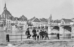 Alte Rheinbrücke um ca. 1860