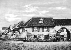 Theaterstrasse, Eingang zum Steinenkloster um 1870