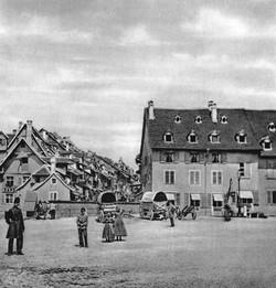 Der Barfüsserplatz um 1860