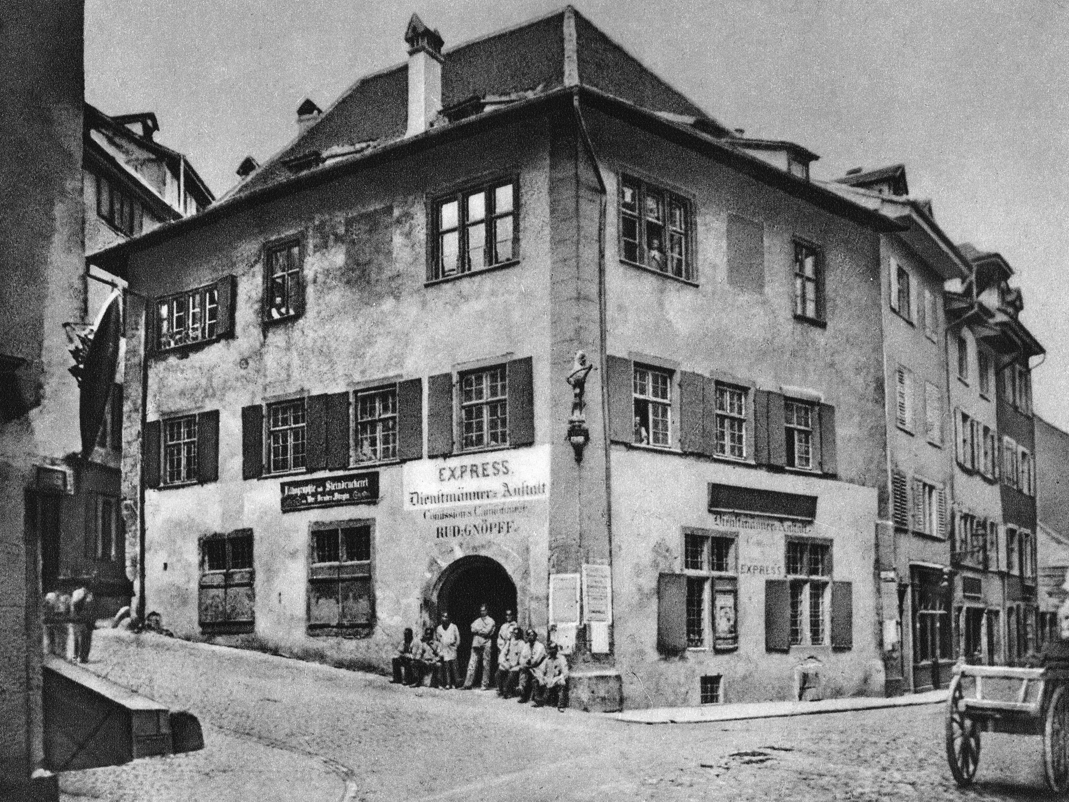 Gerbergasse um 1874