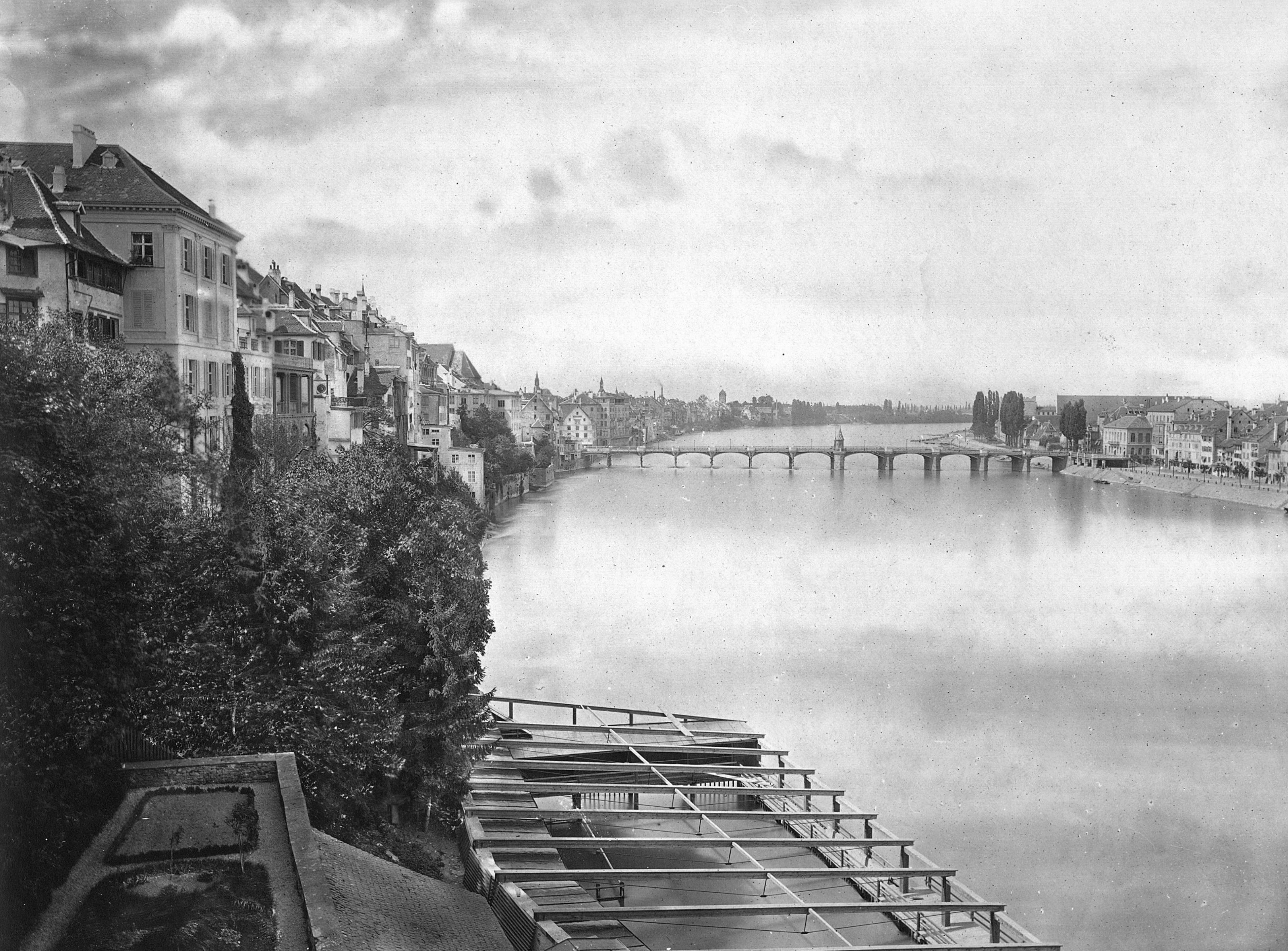 Blick von der Pfalz um 1862