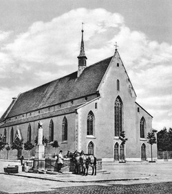 St. Clarakirche, Claraplatz vor 1865