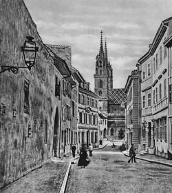 Rittergasse, Münster um 1860