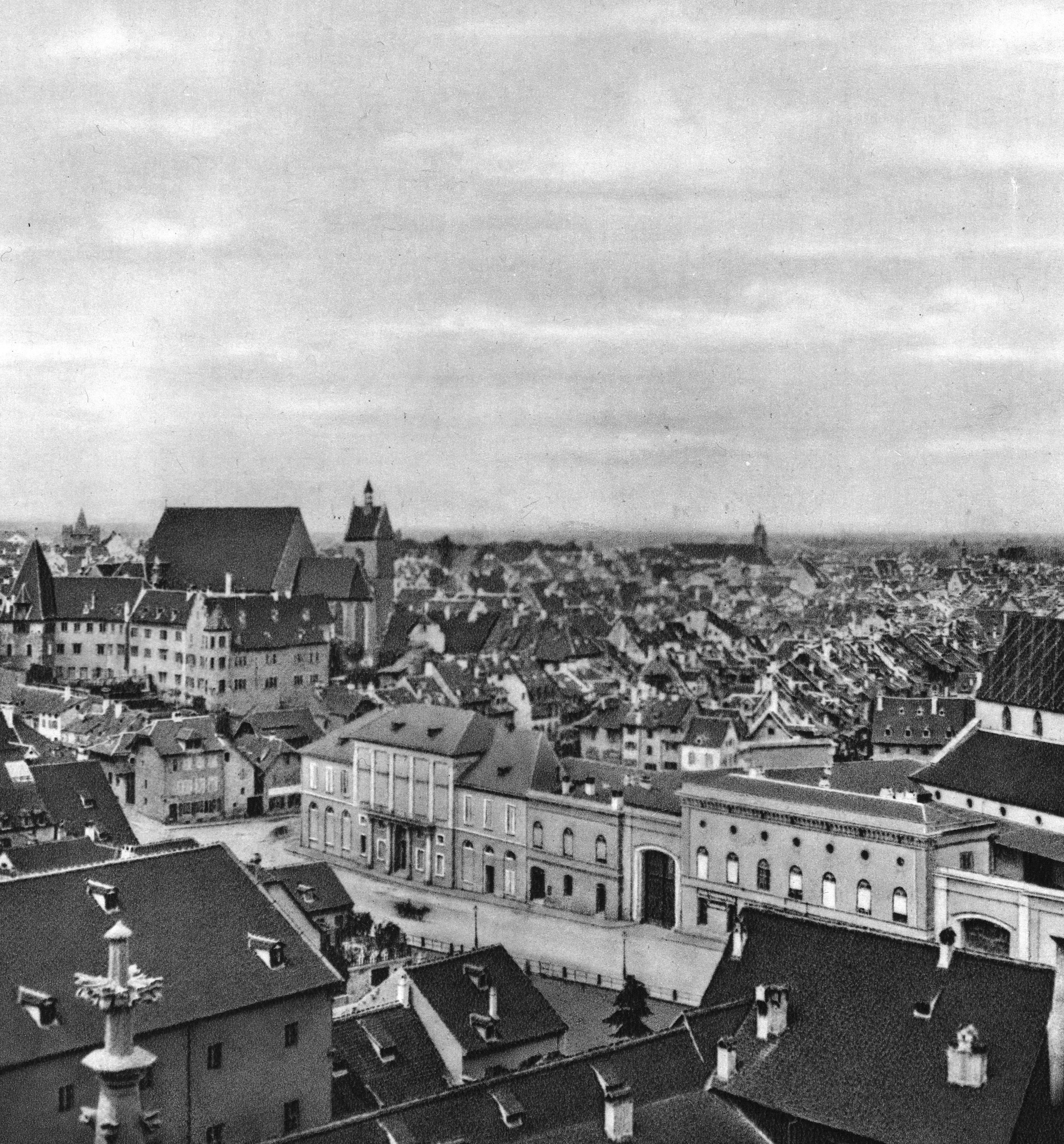 Blick auf den Steinenberg und Altstadt um 1865