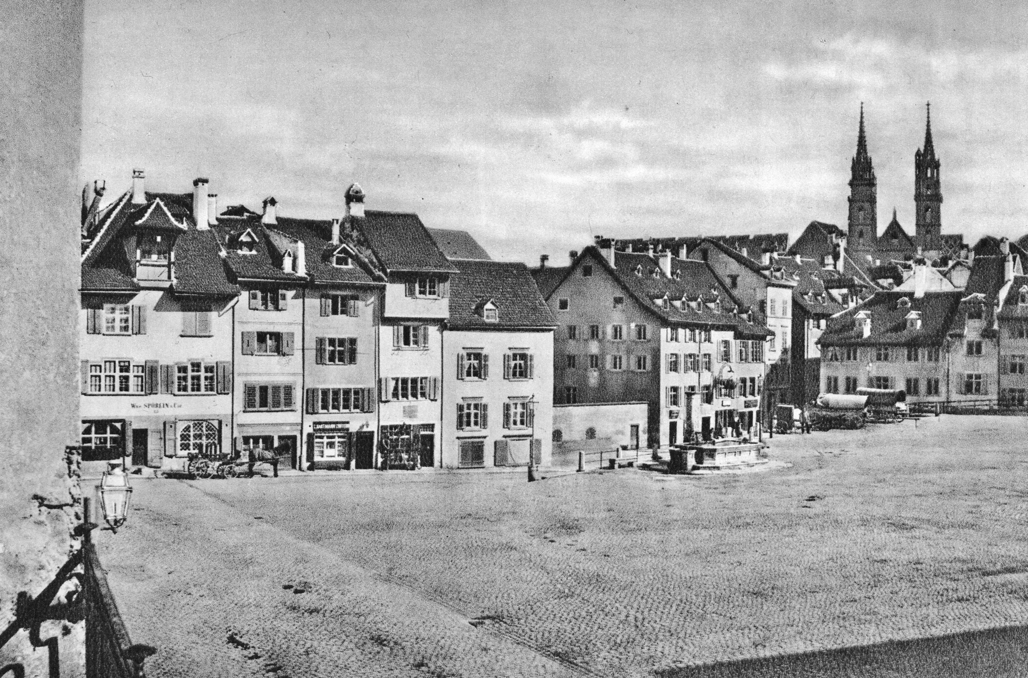 Der Barfüsserplatz um 1870