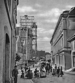 Bau der Elisabethenkirche vor 1864