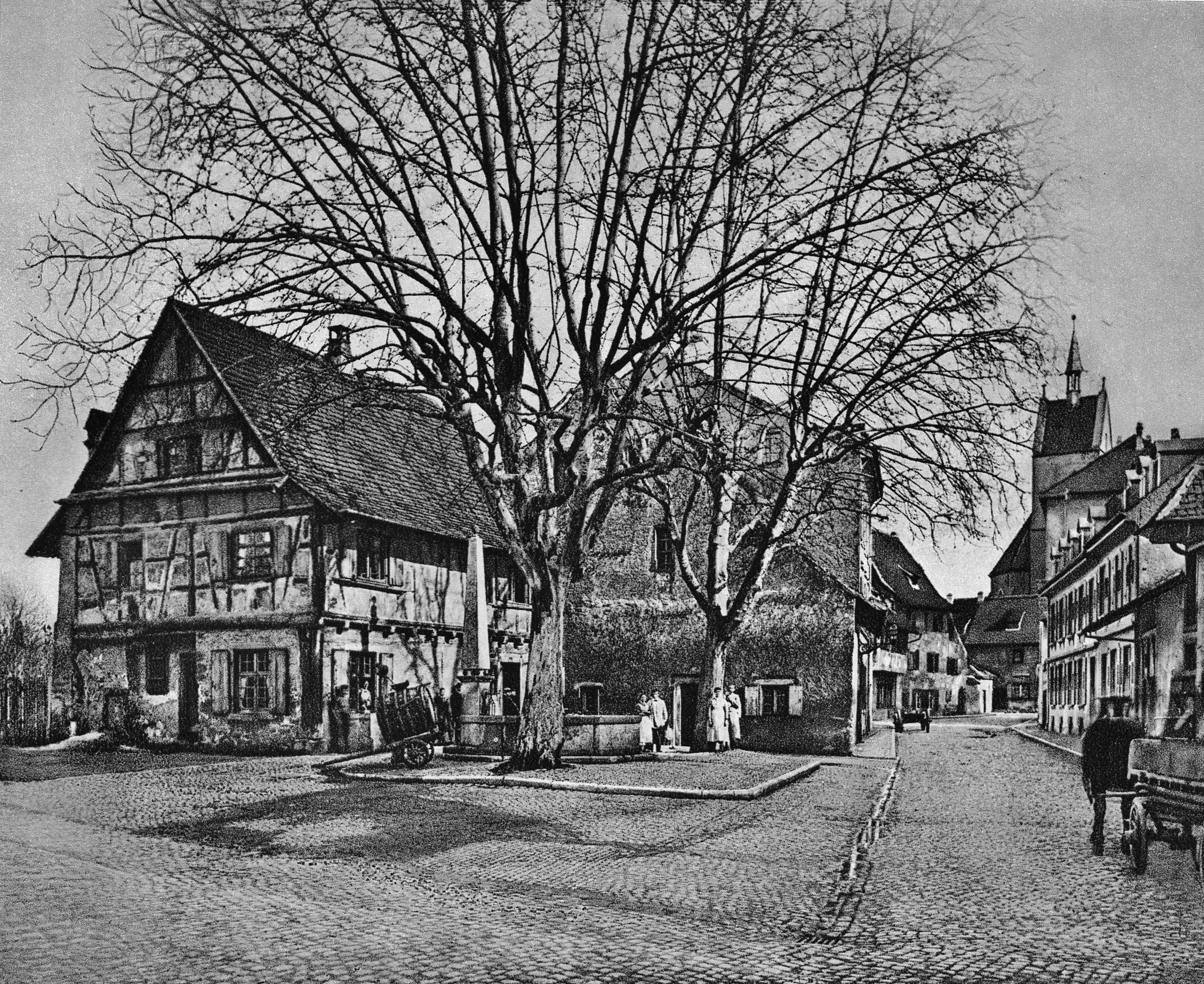 Kirchgasse bei der St. Theodorskirche vor 1882