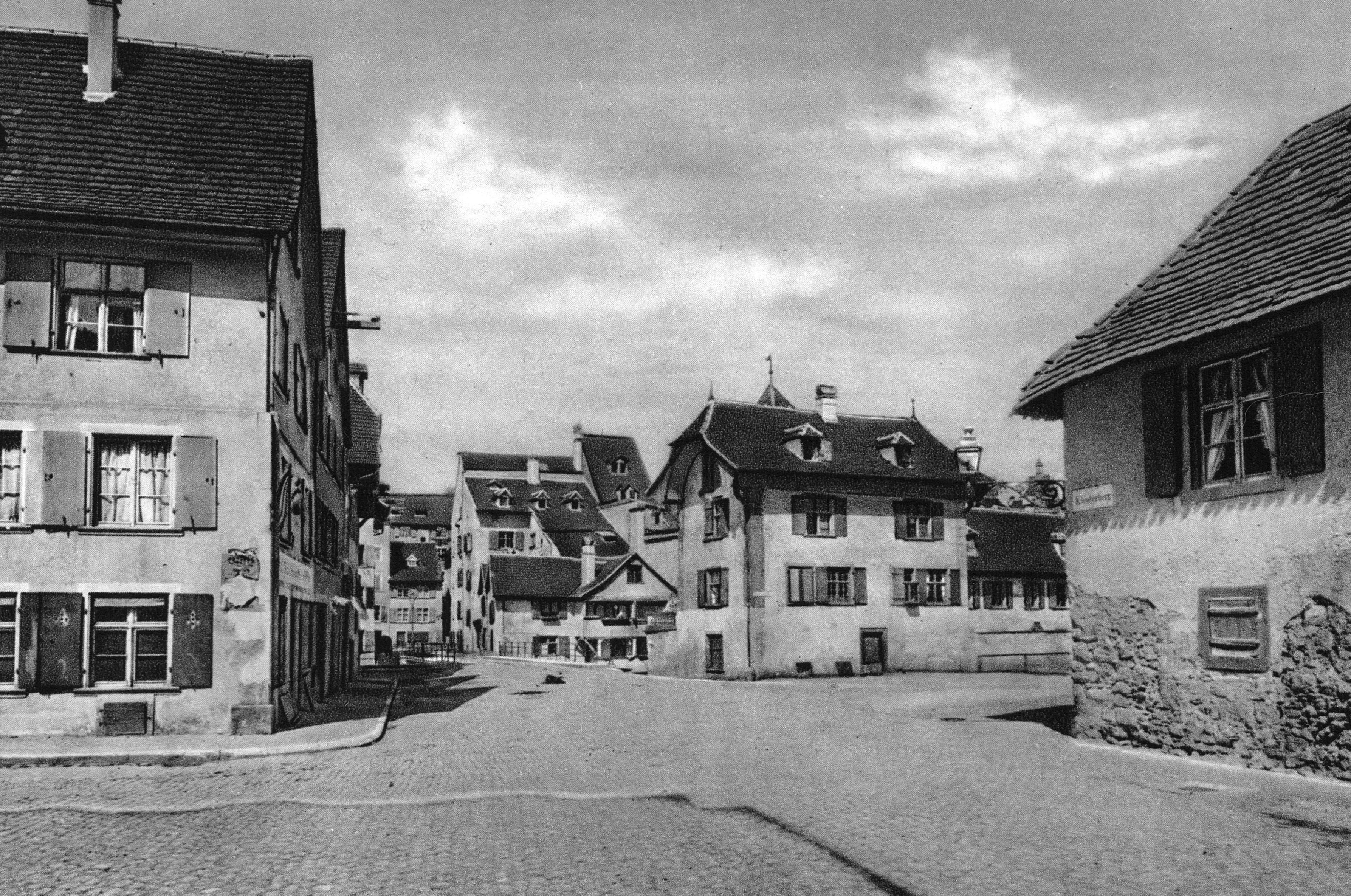 Thorsteinen und Engelsburg, Blick zur Steinenvorstadt um 1870
