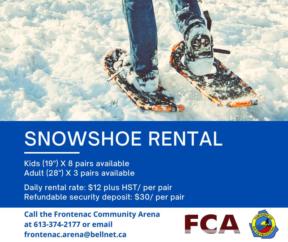 Snowshoe rental poster
