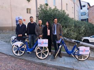 """Anche a Saluzzo arriva il bike sharing """"Bus2bike"""" di Bus Company: consegnate le prime 20 b"""