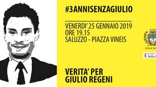 #3annisenzaGiulio, venerdì 25 gennaio Saluzzo ricorda l'impegno per avere verità su Giulio Regen