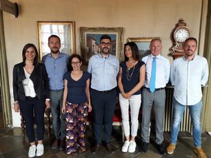 Prima riunione della nuova Giunta comunale, presente anche il rieletto prosindaco di Castellar Eros