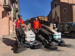 Consegnate le nuove spazzatrici della San Germano per la pulizia del centro storico e dei marciapied