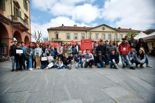 """Start porta """"Il Labirinto"""" in piazza Cavour"""