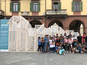 """Start: allestito il """"maxi"""" Cubo di Saluzzo"""