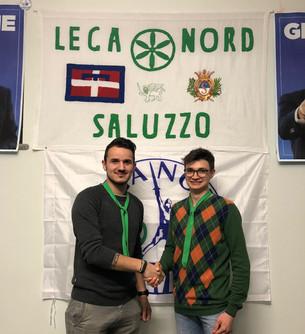 Lega Nord: il coordinatore del direttivo giovani Saluzzo Luca Fraire cede il passo a Nicodemo Bertol