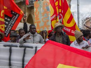 """Calderoni sul corteo per gli stagionali saluzzesi:  """"Manifestazione poco partecipata dai lavoratori"""