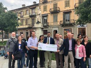 EvisoGo: raccolti 1.140 euro per la riqualifica della statua di Silvio Pellico
