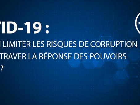 COVID-19 : peut-on limiter les risques de corruption sans entraver la réponse des pouvoirs publics ?