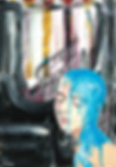 Woman-at-the-artmuseum#1-(2017) 70X100cm