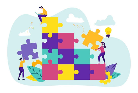 team-metaphor-people-connecting-puzzle-e