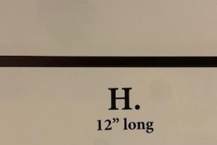 "H.12"" wreath hanger"