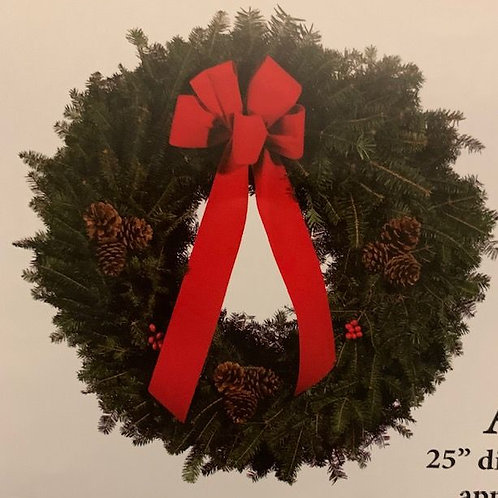 """A. 25""""Classic Wreath"""