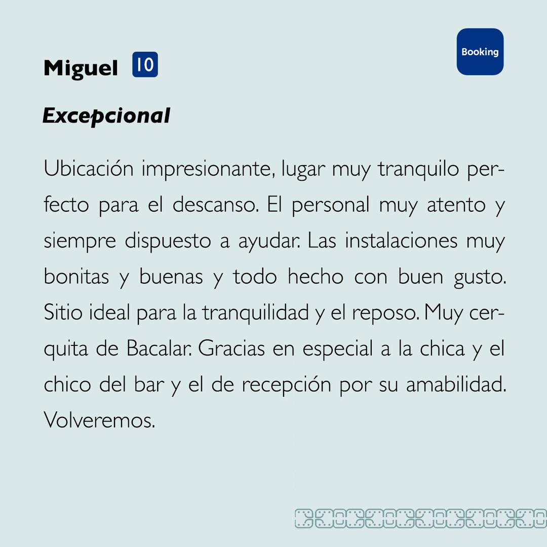 Miguel Booking