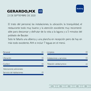 Gerardo Booking