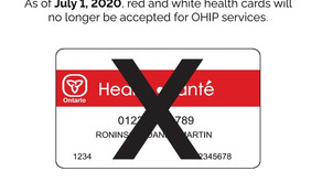 """OHIP """"red and white"""" healthcards EOL (End of Life)"""