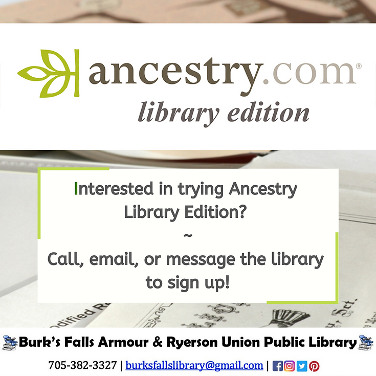 Interested in trying Ancestry.com Librar